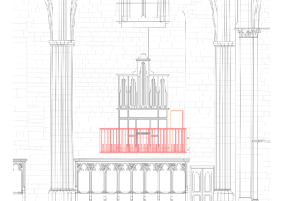 Tribune nord (orgue espagnol), vue de face