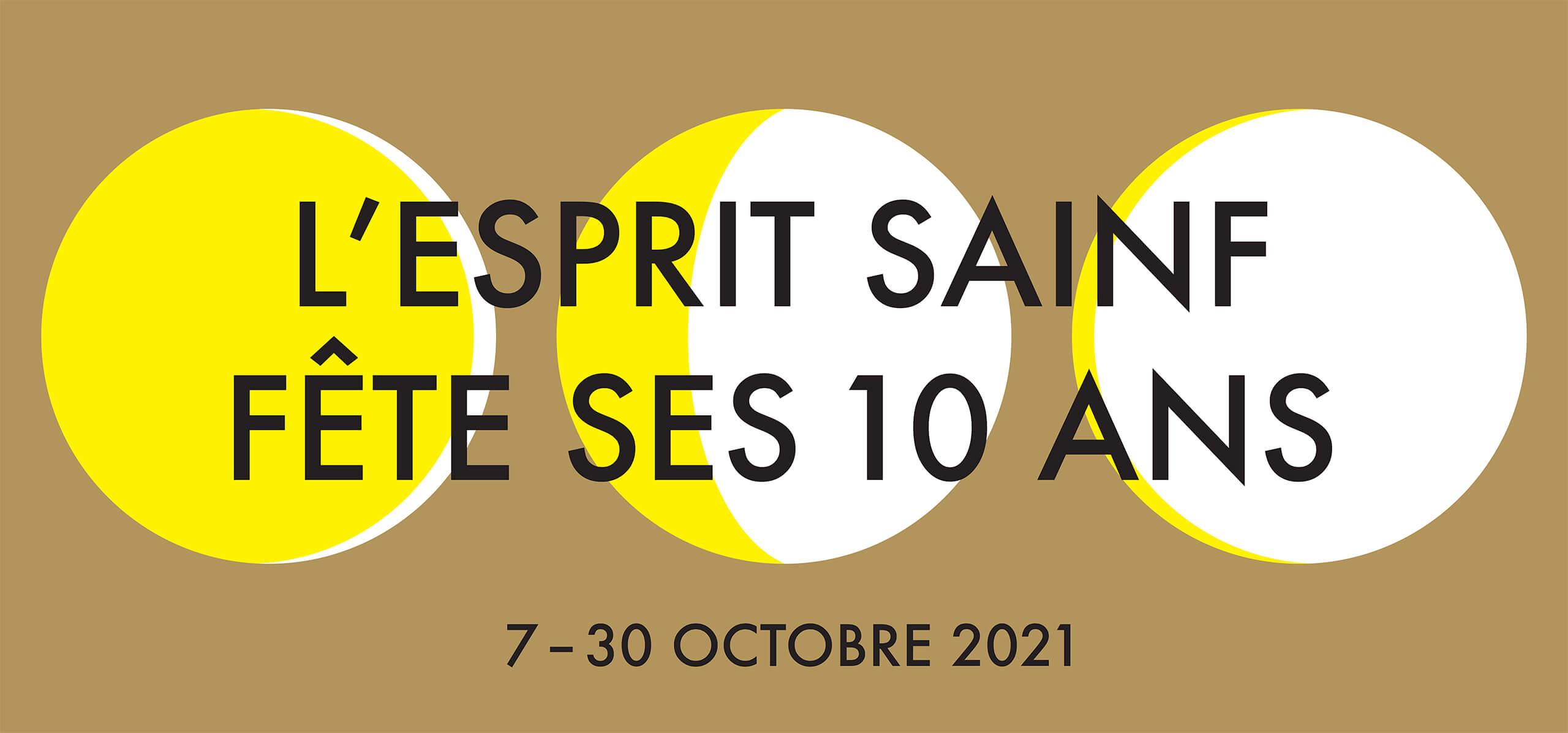 Bannière pour les 10 ans de l'Esprit Sainf