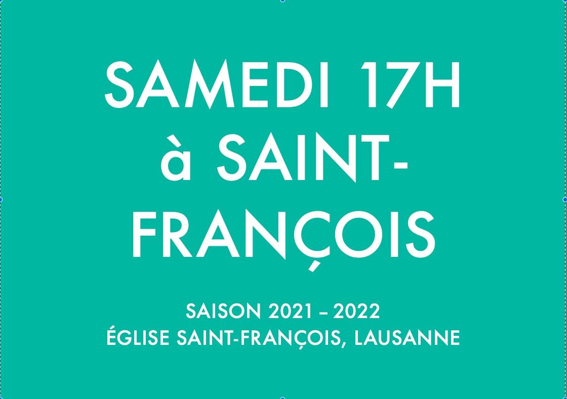 SAISON 2021-2022 DES CONCERTS SAMEDI 17H